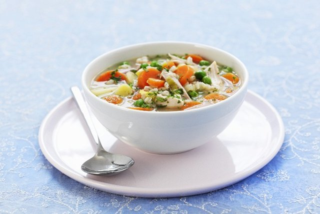 Chicken Vegetable Soup with Orzo Image 1