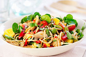 Asian Sesame Noodle-Chicken Salad