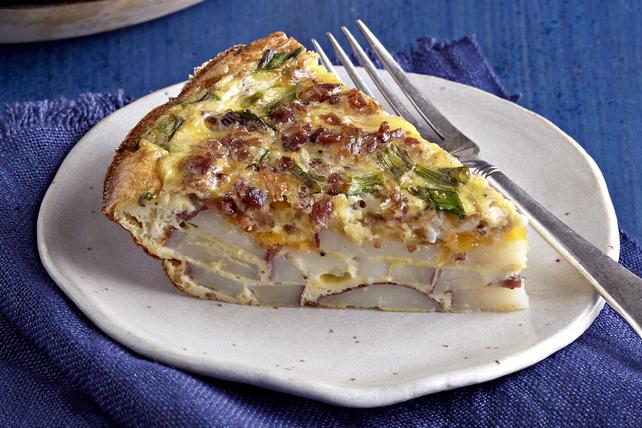 Frittata au cheddar, au bacon et aux pommes de terre Image 1