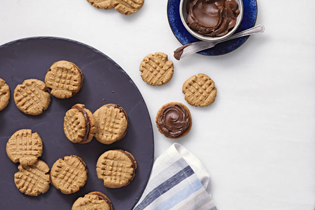 Peanut Butter-Chocolate Sandwich Cookies Image 1