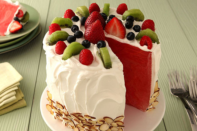 "Watermelon ""Cake"" - Kraft Recipes"