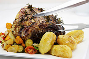 Roasted Leg of Lamb with Potatoes & Zucchini