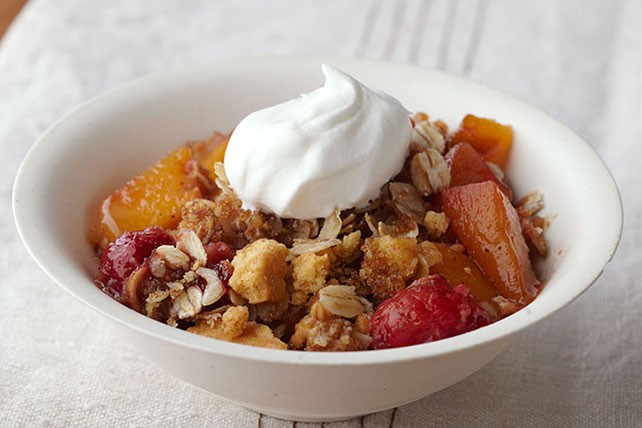 Raspberry-Peach Crisp Image 1