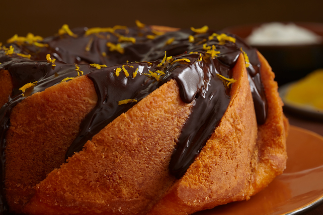 Glazed Chocolate-Orange Cake
