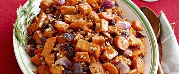Maple-Roasted Sweet Potatoes and Carrots