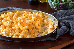 Spicy Sharp Cheddar Pasta Bake