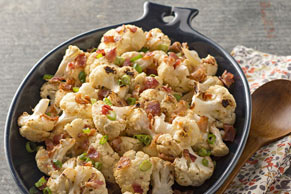 Bacon-Ranch Roasted Cauliflower