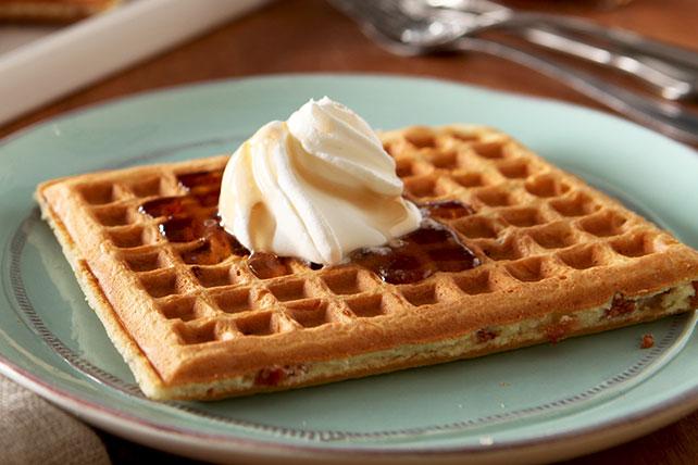 Waffles con trocitos de tocino Image 1