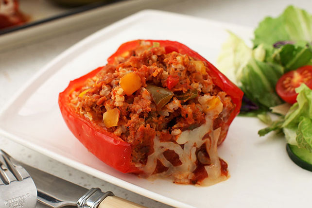 Slow-Cooker Italian-Stuffed Peppers Image 1