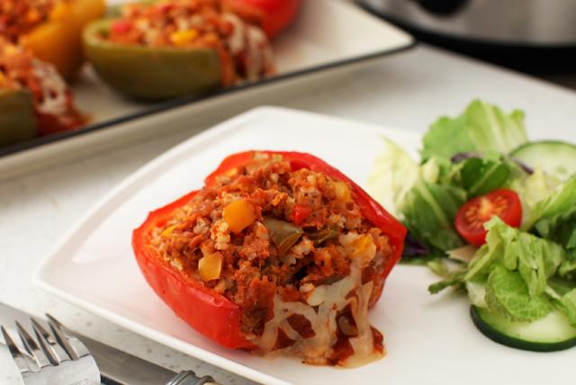 Slow-Cooker Italian-Stuffed Peppers Image 1
