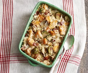 Brussels Sprouts and Squash Gratin