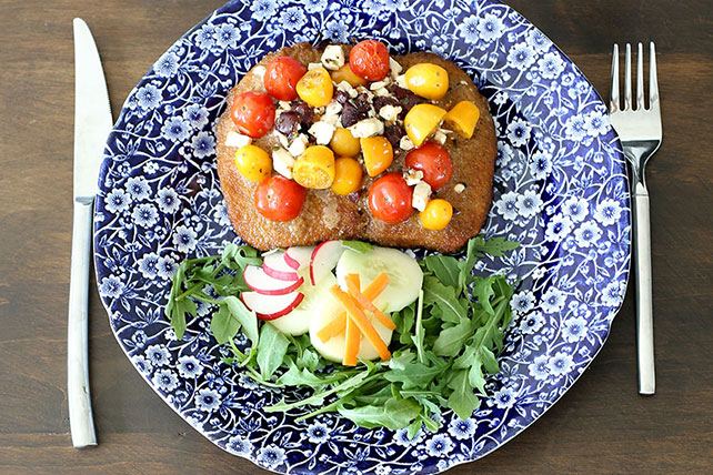 Greek-Style Bruschetta Pork Chops for Two Image 1