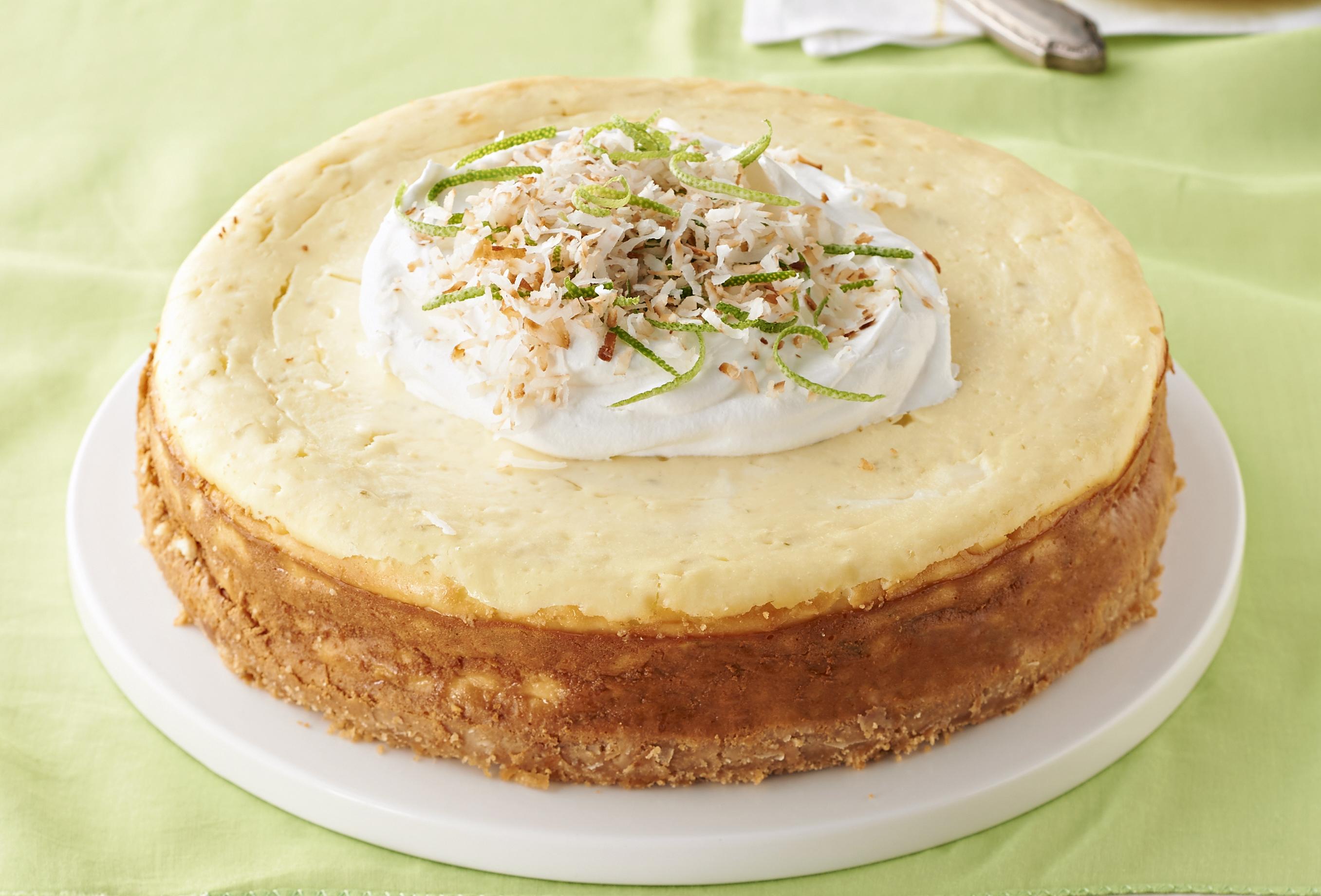 Cheesecake caribeño con coco y limón Image 1