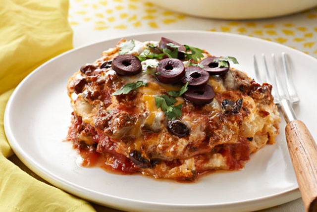 Slow-Cooker Enchilada Lasagna