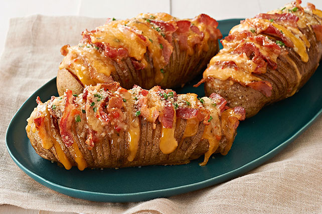 Cheesy Bacon Hasselback Potato Recipe Image 1