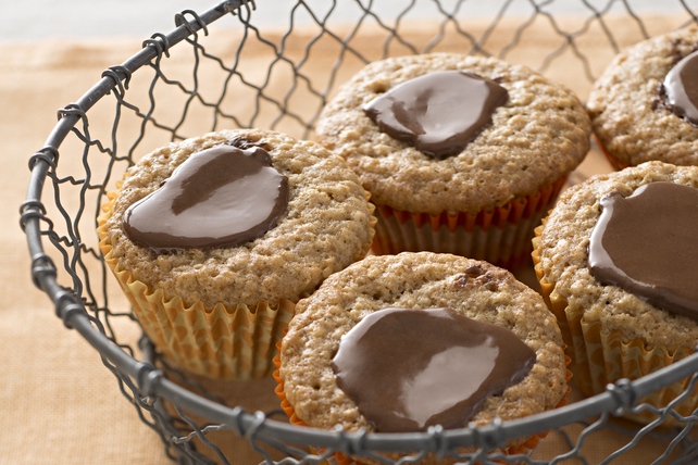 Muffins à l'avoine, au chocolat et au beurre d'arachide Image 1