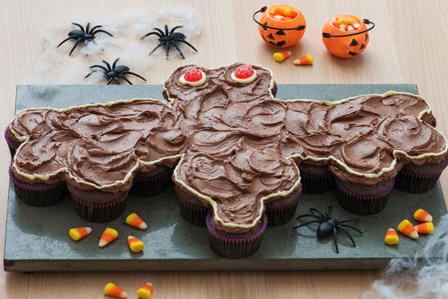 Bat-Shaped Chocolate Cupcake Cake Image 1