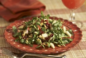 Watercress Salad with Apples, Cranberries & Peanuts Image 2