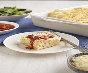 Easy Creamy Baked Spaghetti Casserole