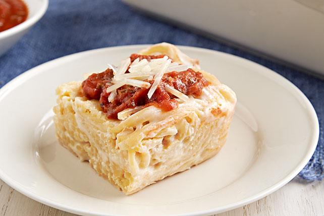 Cremoso horneado de espagueti  Image 1