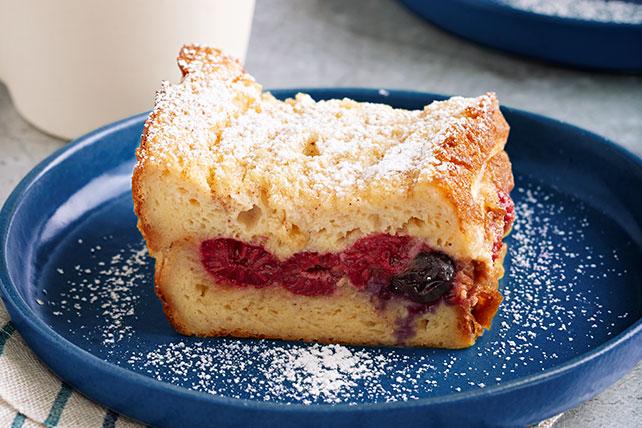 Tostadas francesas al horno con frambuesas y moras Image 1