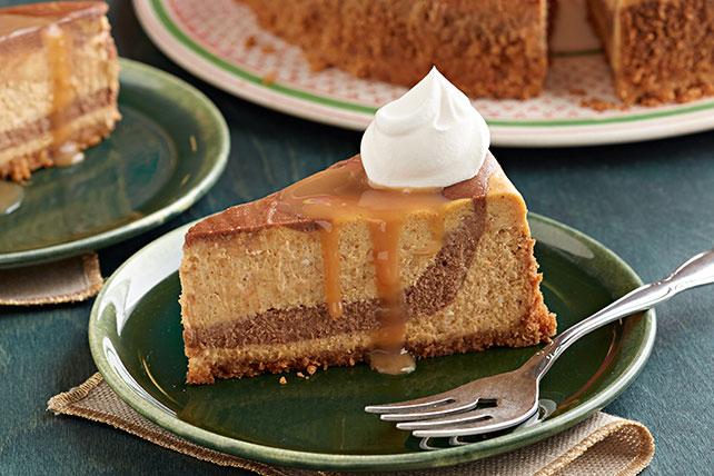 Cheesecake de calabaza con remolinos de chocolate Image 1