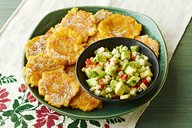 Plantain Chips with Jicama and Avocado Salsa