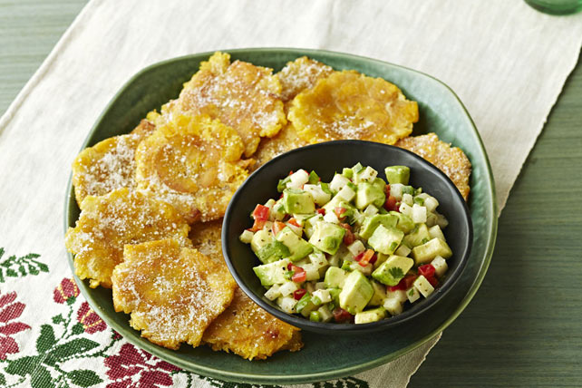 Plantain Chips with Jicama and Avocado Salsa Image 1