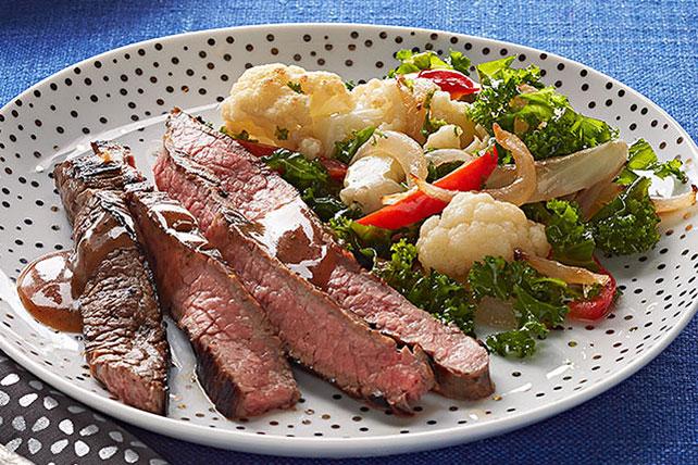 Marinated Skirt Steak With Pan Roasted Vegetables Kraft Recipes