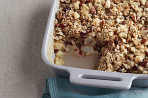 Quick Pear & Cranberry Crisp