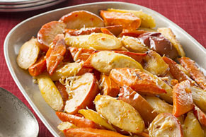 Oven-Roasted Root Vegetables & Apples