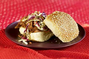 Slow-Cooker BBQ Pork Sandwiches with Coleslaw