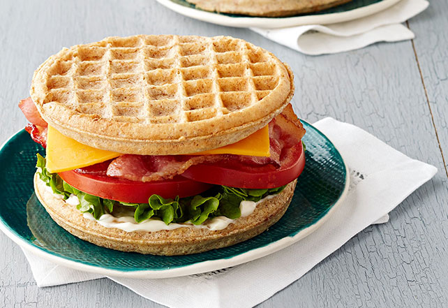Cheddar-Bacon Waffle Sandwich Image 1
