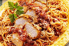Chicken Parmesan Spaghetti