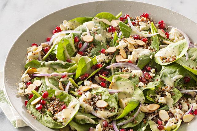 Pomegranate-Quinoa Spinach Salad Image 1