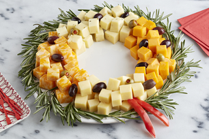 Easy Cheese Wreath