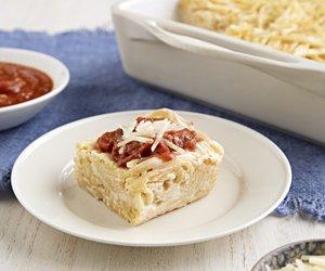 Creamy Baked Spaghetti Casserole