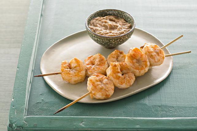 Shrimp Satays with Peanut Sauce Image 1