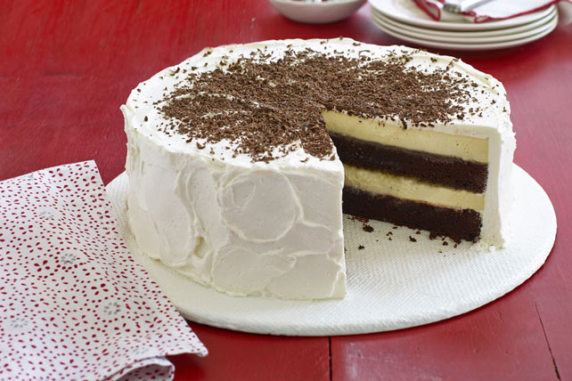 Chocolate-Orange Cheesecake Layer Cake Recipe - Kraft Recipes