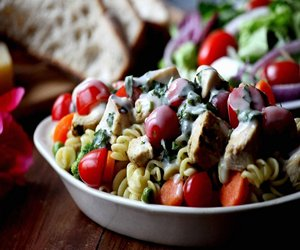 Grilled Chicken, Veggie and Pasta Salad