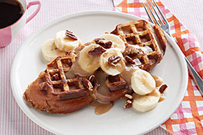 Waffle French Toast with Maple Cream