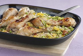 Honey-Lime Glazed Chicken over Rice Image 2