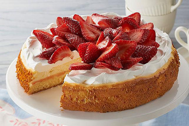 Cheesecake con mantecada de fresa Image 1