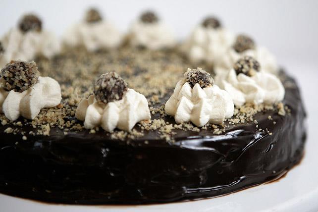 Gâteau au fromage au chocolat, aux noisettes et au café Image 1