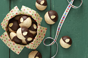 Chocolate-Dipped Mexican Wedding Cookies