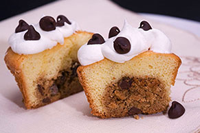 Chocolate Chip Cookie-Filled Cupcakes