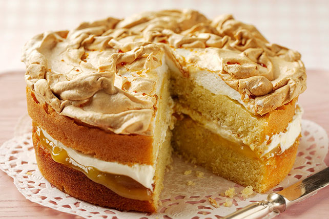 Lemon Meringue Layered Cake