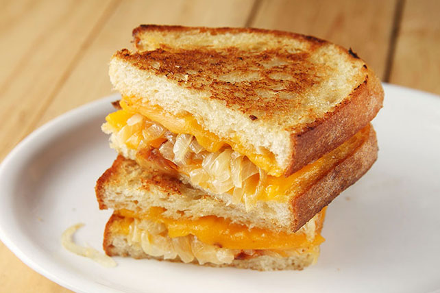 Grilled Cheese and Onion Sandwiches Image 1