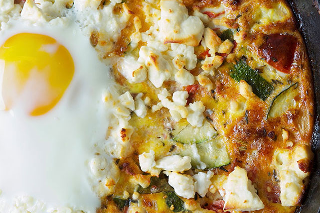 Vegetable Frittata with Feta Image 1