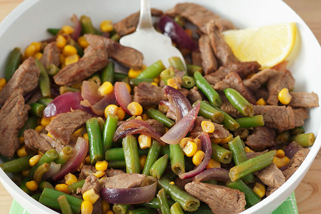 Beef, Green Beans and Corn Skillet